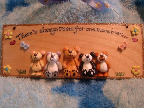 5 character 3d Bear Sign Any Phrasing Personalised & Customised Plaque Handmade To Order There's Always Room For One More Bear